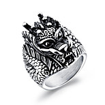Men's Statement Rings Rock Hiphop Titanium Steel Geometric Jewelry For Carnival Club