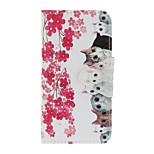 Case For Apple Ipod Touch5 / 6 Case Cover Card Holder Wallet with Stand Flip Pattern Full Body Case  Flowers and Cats Hard PU Leather