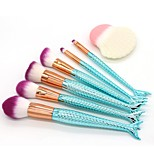 7 pcs Makeup Brush Set Synthetic Hair Full Coverage Plastic Face