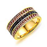 Недорогие -Муж. Классические кольца Смола корейский Мода Титан Сталь Геометрической формы Бижутерия Назначение Повседневные Для улицы
