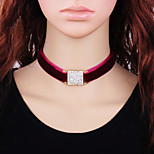 cheap -Women's Geometric Fashion Choker Necklace , Cloth Alloy Choker Necklace , Gift Daily