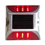 cheap -1PCS Aluminum Solar 6-LED Outdoor Road Driveway Dock Path Ground Light Lamp Red