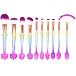 cheap -10 pcs Makeup Brush Set Nylon Full Coverage Plastic Blush