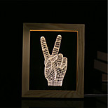 1 Set Of 3D Mood Night Light LED Lights USB Bedroom Photo Frame Lamp Gifts Victory Gesture