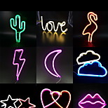 1Pc Creative Stylish Neon LED Night Light Soft Artware Multi Options Battery&USB Powered Without Battery