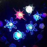 1pcs вел ночь лампа рождества снежинка звезда бабочка ramdon