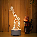 1 Set Of 3D Mood Night Light Hand Feeling Dimmable USB Powered Gift Lamp Giraffe