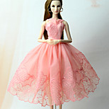 Платья Платье Для Кукла Барби Розовый Платье Для Девичий игрушки куклы