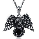 cheap -Men's Bird Hiphop Cool Pendant Necklace Stainless Steel Zircon Pendant Necklace , Other Street