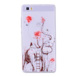cheap -Case For Huawei P8 Lite (2017) P10 Lite Transparent Pattern Back Cover Elephant Soft TPU for Huawei P10 Lite Huawei P9 Lite Huawei P8