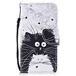 cheap -Case For Apple Ipod Touch5 / 6 Case Cover Card Holder Wallet with Stand Flip Pattern Full Body Case  Black and White Cats Hard PU Leather