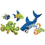 DIY KIT Building Blocks Toys Fish Shark Animal Animal Kids 5 Pieces