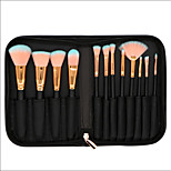12 pcs Makeup Brush Set Synthetic Hair Full Coverage Wood Face