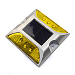 cheap -1PCS Aluminum Solar 6-LED Outdoor Road Driveway Dock Path Ground Light Lamp Yellow