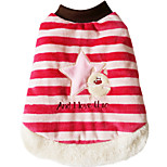Dog Vest Dog Clothes Casual/Daily Stripe Red Costume For Pets