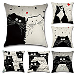 Set Of 6 Cartoon Totoro Chinchilla Pattern Cushion Cover Creative Sofa Pillow Cover 45*45Cm Pillow Case