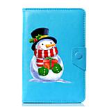 Недорогие -универсальный мультфильм снеговик pu кожаный чехол для подставки для 7-дюймового 8-дюймового 9-дюймового планшета с 10-дюймовым планшетом