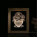 1 Set Of 3D Mood Night Light LED Lights USB Bedroom Photo Frame Lamp Gifts Jade Cabbage
