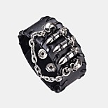 Men's Bangles Hiphop Korean Statement Jewelry Cool Leather Alloy Jewelry For Daily