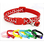 Collar Portable Breathable Foldable Animal print Nylon Black Red Blue