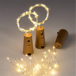 3pcs 15-LED 0.75M Copper Wire String Light with Bottle Stopper for Glass Craft Bottle Fairy Valentines Wedding Decoration Lamp Party