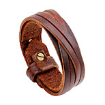 Men's Leather Bracelet Oversized Rock Hiphop Statement Jewelry Dermis Jewelry Jewelry For Daily Casual