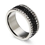 Men's Women's Statement Rings Cubic Zirconia Classic Cute Gift Stainless Steel Circle Jewelry For Party Daily Christmas
