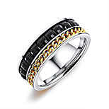 Men's Band Rings Resin Fashion Korean Titanium Steel Geometric Jewelry For Daily Going out