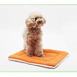 Собака Кровати Животные Коврики и подушки Однотонный Кофейный Синий Розовый Для домашних животных