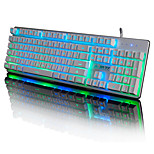 AJAZZ Machinist Metal Backlighting Thin Film Wired Game Keyboard