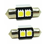 Sencart 2pcs 31mm Festoon LED Bulb 5050SMD LED Interior Map Dome Door Lights Bulbs 12V