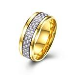 Муж. Классические кольца На каждый день Классический Нержавеющая сталь Круглый Бижутерия Назначение Для вечеринок Обручение Повседневные