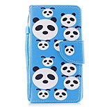 cheap -Case For Apple Ipod Touch5 / 6 Case Cover Card Holder Wallet with Stand Flip Pattern Full Body Case  Panda Puzzles Hard PU Leather