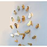 Недорогие -3d наклейки наклейки бабочки наклейки украшения золотые полые 12 шт бабочка