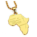 Men's Pendant Necklaces Gold Plated Alloy Pendant Necklaces , Metallic Casual Going out Street