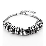 Men's Chain Bracelet Hiphop Gothic Alloy Geometric Jewelry For Daily Date