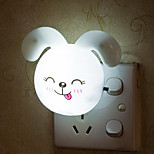 1pc Light Control AC Powered LED Night Light Rabbit Shape