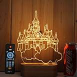 1 juego Regulable Color variable Luz Decorativa Luz de noche LED Luces USB-3W 5V