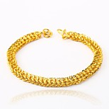 cheap -Men's Women's Chain Bracelet Metallic Gift Gold Plated Irregular Jewelry For Wedding Engagement