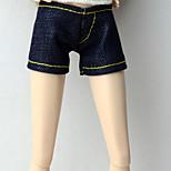 Стиль Брюки ковбой Шорты, брюки и колготки Для Кукла Барби Темно-синий Брюки Для Девичий игрушки куклы