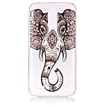 cheap -Case For LG K8 (2017) K10 (2017) Ultra-thin Transparent Embossed Pattern Back Cover Elephant Soft TPU for LG K10 (2017) LG K8 (2017)