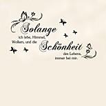 Недорогие -Слова и фразы Романтика Цветы Наклейки Простые наклейки 3D наклейки Декоративные наклейки на стены Свадебные наклейки,Бумага Винил