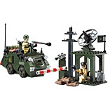 Building Blocks Tank Toys Tank People Military Non Toxic Classic Warrior Kids Adults' Boys' 187 Pieces