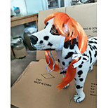 Cat Dog Wig Dog Clothes Stylish Striped Orange Red Costume For Pets