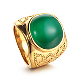 Муж. Массивные кольца На каждый день Хип-хоп Cool Мода Массивные украшения Нержавеющая сталь Бижутерия Назначение Повседневные На каждый