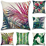 Set Of 6 Fashion Tropical Rainforest Plant Printing Pillow Case Botanical Pillow Cover 45*45Cm Sofa Cushion Cover