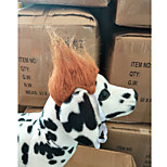 Dog Tiaras & Crowns Wig Dog Clothes Stylish Striped Brown Costume For Pets