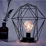 1 pc led minimalisme fer art veilleuse e14 diamant / cylindre forme batterie alimenté sans batterie