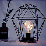 1pc привело минимализм железа искусства ночной свет E14 алмаз / цилиндр формы батареи без батареи