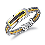 cheap -Men's Chain Bracelet Casual Cool Titanium Steel Geometric Jewelry For Daily Formal